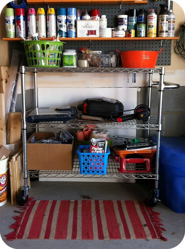 garage paint storage, cleaning tips, garages, shelving ideas, storage ideas
