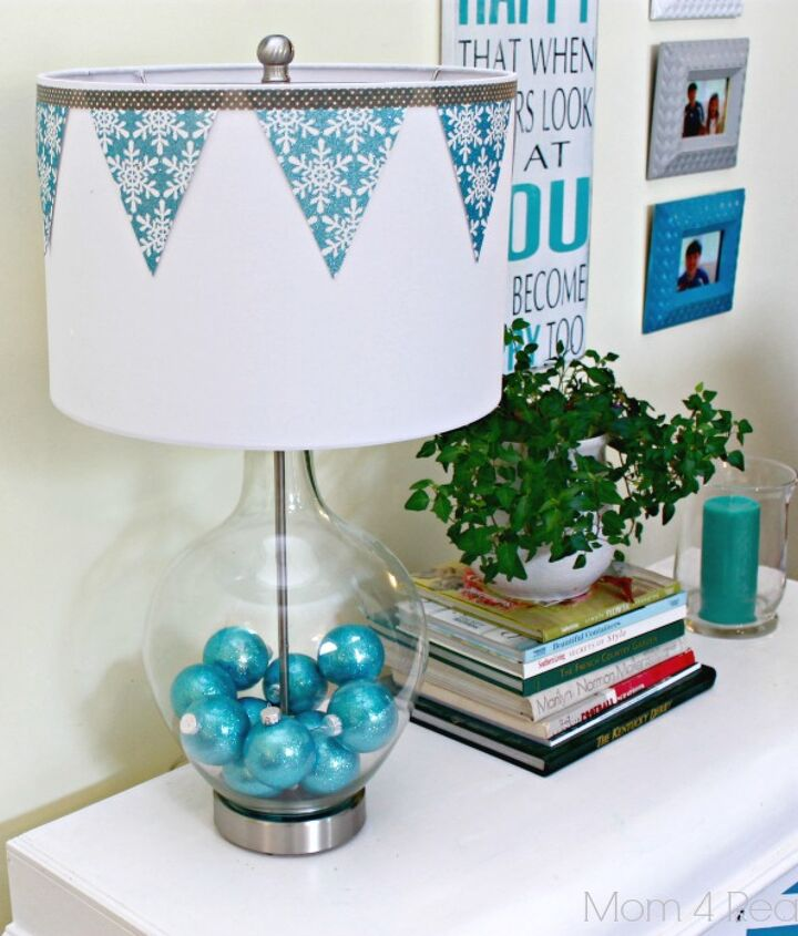 Decorate A Fillable Glass Lamp For The Holdays Hometalk