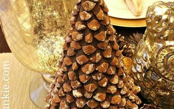diy pinecone christmas tree, christmas decorations, crafts, seasonal holiday decor, A great little tree for Fall or Winter