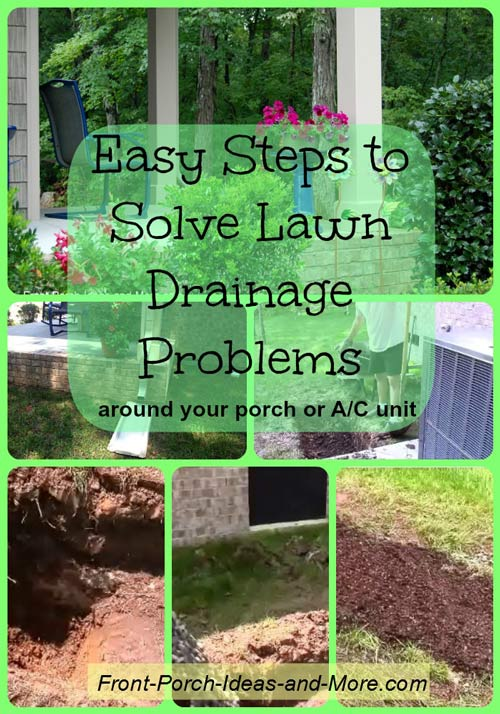 easy steps to solve lawn drainage problems, gardening, landscape, How to solve drainage problems in your lawn