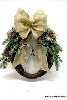 creating a christmas wreath from an old leather harness, christmas decorations, crafts, seasonal holiday decor, wreaths