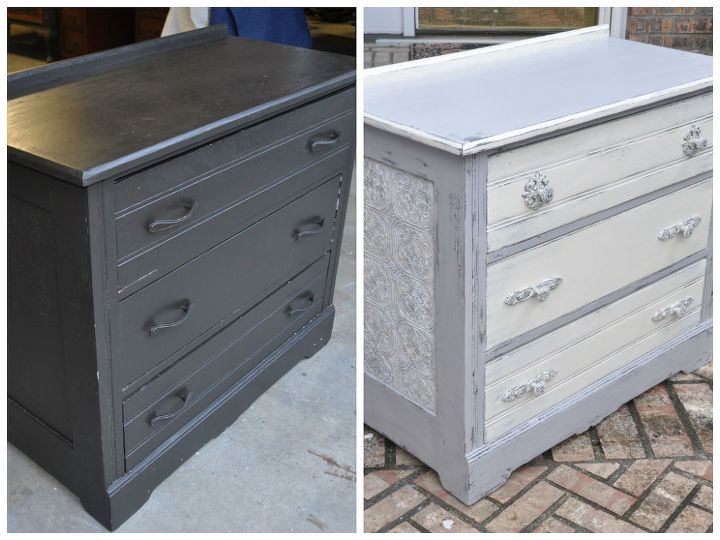 Dumpster To Rustic Diva Dresser How Use Wallpaper On Furniture Painted