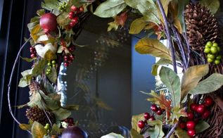diy pottery barn inspired wreath, crafts, curb appeal, seasonal holiday decor, wreaths