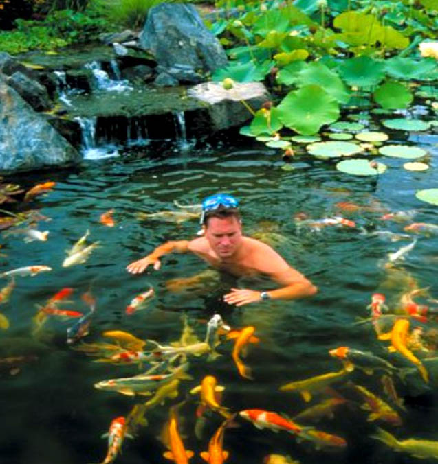 Backyard ponds make fish keeping fun hometalk for Koi pond jets