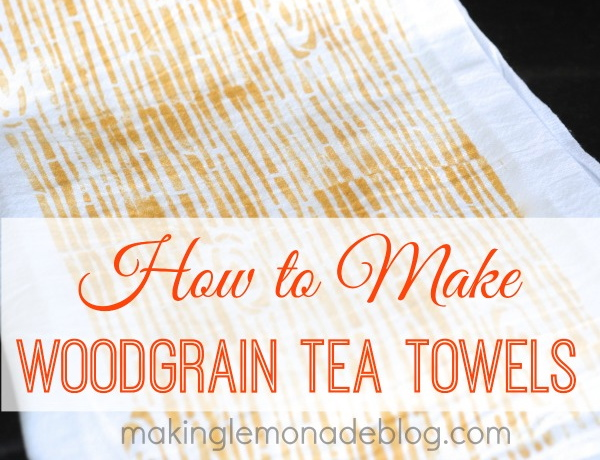 Stenciled Wood Grain Tea Towels {DIY Kitchen Decor} | Hometalk