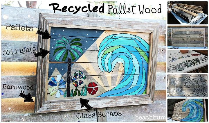 recycled pallet wood art, crafts, pallet, repurposing upcycling