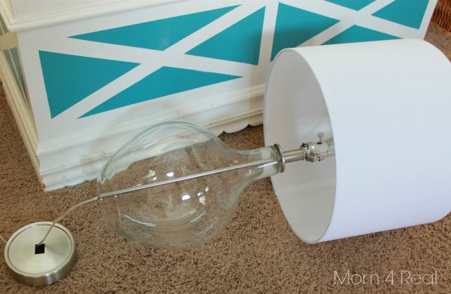 It's so easy to take this lamp apart to fill.