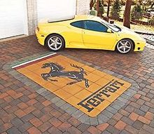 custom paverart, concrete masonry, outdoor living, At least he knows which garage to pull into