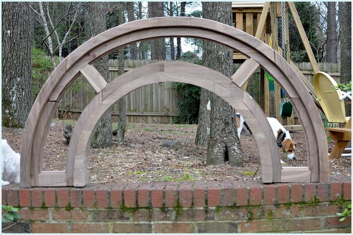 diy arched tudor door, diy, doors, how to, woodworking projects, First he built the arch which was a whole lot more involved than I dreamed