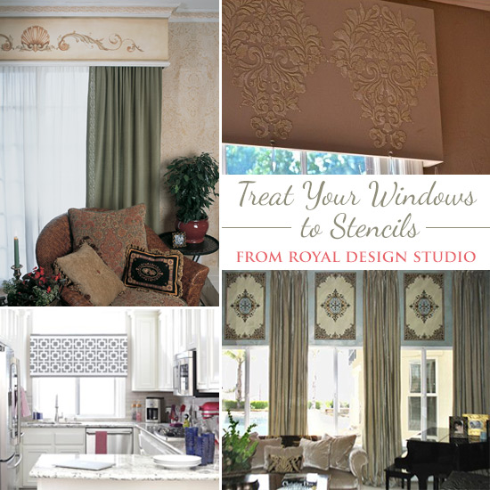 stenciling stylish diy window treatments, diy, home decor, how to, living room ideas, painting, window treatments, windows, Stenciling Stylish DIY Window Treatments