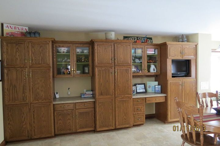 And yes, even more cabinets.  In the process of changing the hardware as well.