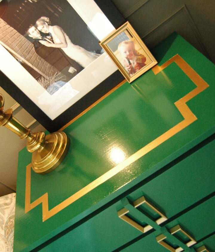 Dresser also has a Greek Key design on the top.