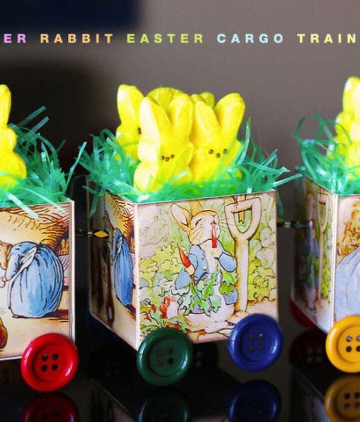 peter rabbit cargo train, crafts, easter decorations, seasonal holiday decor