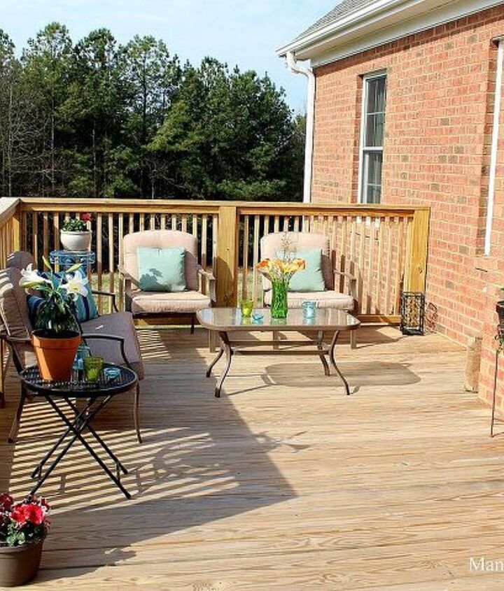 outdoor spring decor, decks, outdoor living