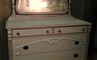 repairing damaged veneer, painted furniture, woodworking projects, After