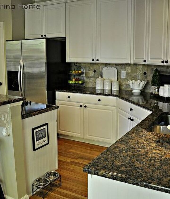 the power of paint and a few budget friendly updates for a cozy white kitchen, home decor, kitchen design, painting
