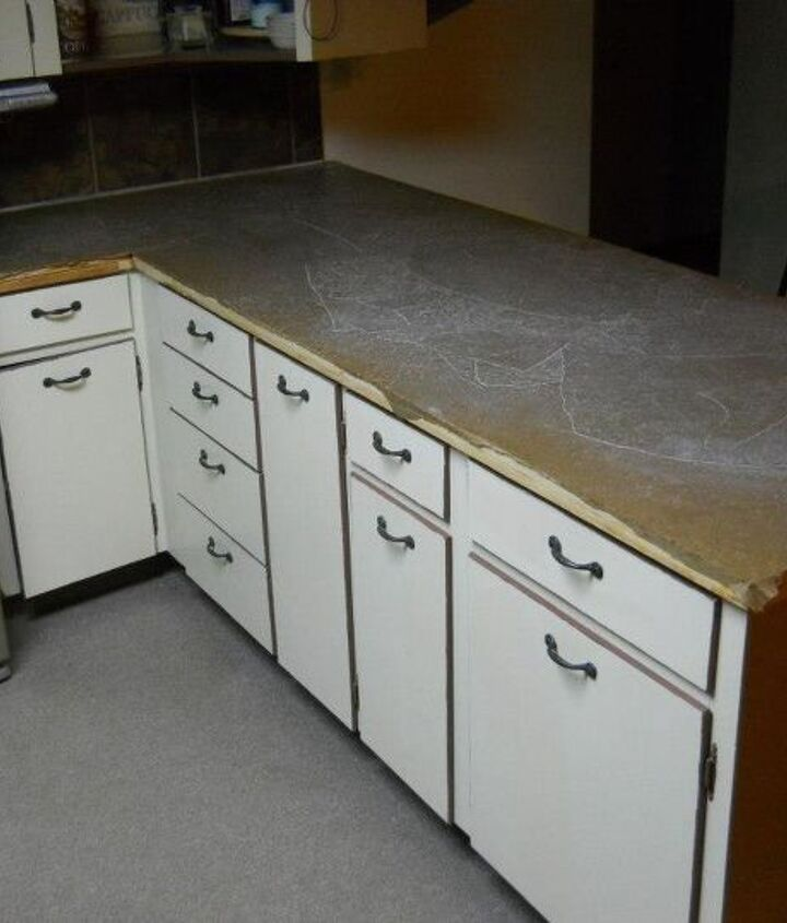 refinished counter tops with paper, countertops, diy, kitchen design