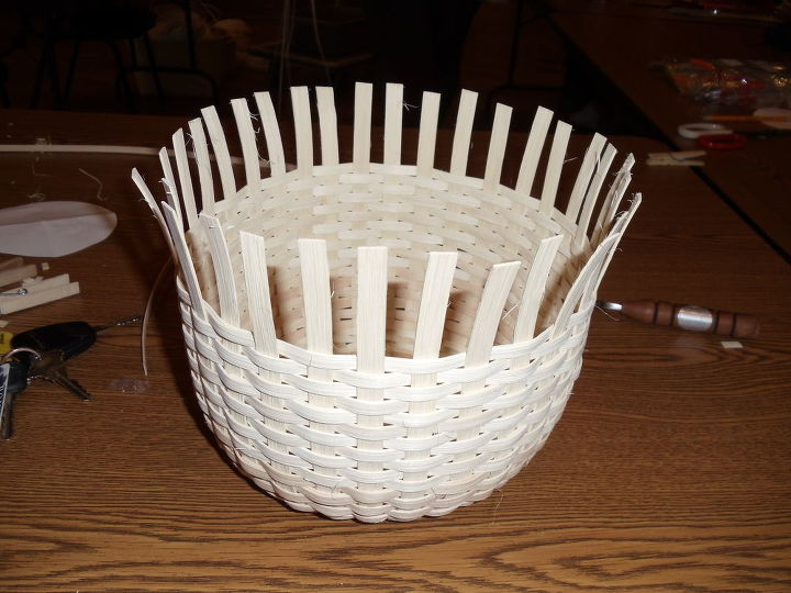 My basket almost weaved
