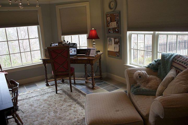 Desk/computer area.