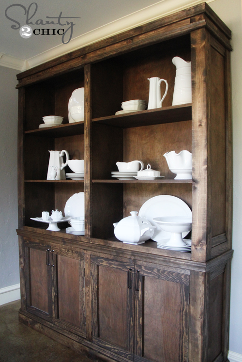 Diy Dining Room Sideboard And Hutch Restoration Hardware Style Painted Furniture Woodworking Projects