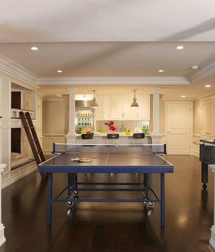 Recreation area of basement renovation by Titus Built, LLC.