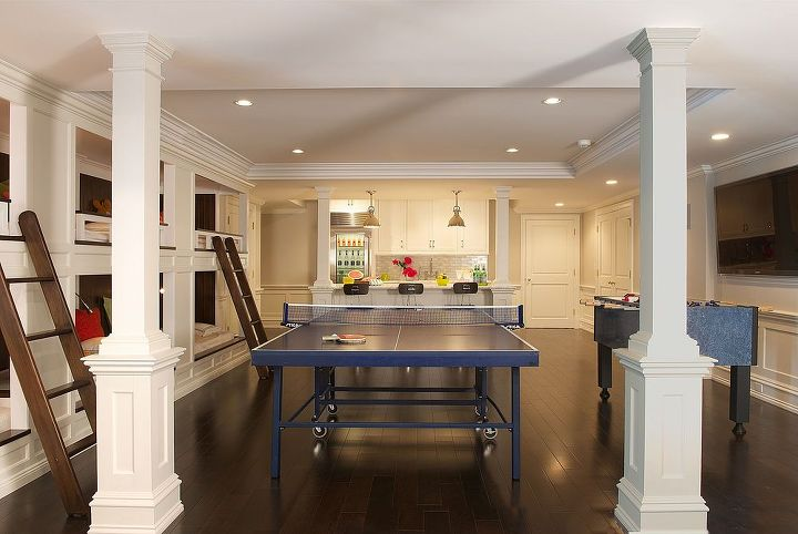 Recreation area of basement renovation by Titus Built, LLC.