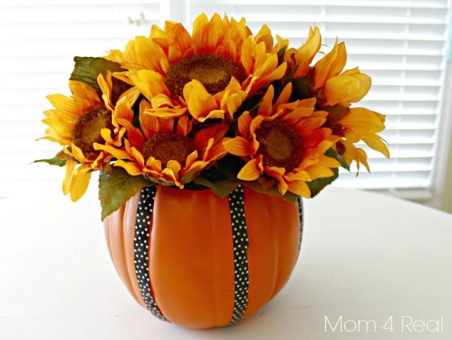 Pumpkin vase.
