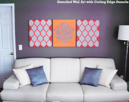 Home Decorating Idea Stenciled Wall Art Hometalk Inspiration Brocade Home Decor Decoration