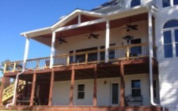 windows siding and decks oh my, curb appeal, decks, wall decor, windows, New deck with ceiling fans