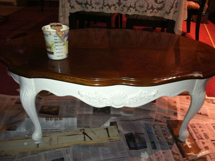 first chalk paint project completed, chalk paint, painted furniture