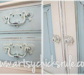 Charmant Dated 70 S Hutch Transformed Into A Coastal Shabby Treasure, Chalk Paint, Painted  Furniture