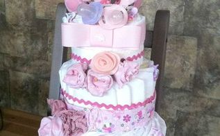 top 10 posts of 2013, crafts, home decor, 4th on our list are my DIY Diaper cakes This one was one of my favorites that I ve ever made I ve made quite a few too