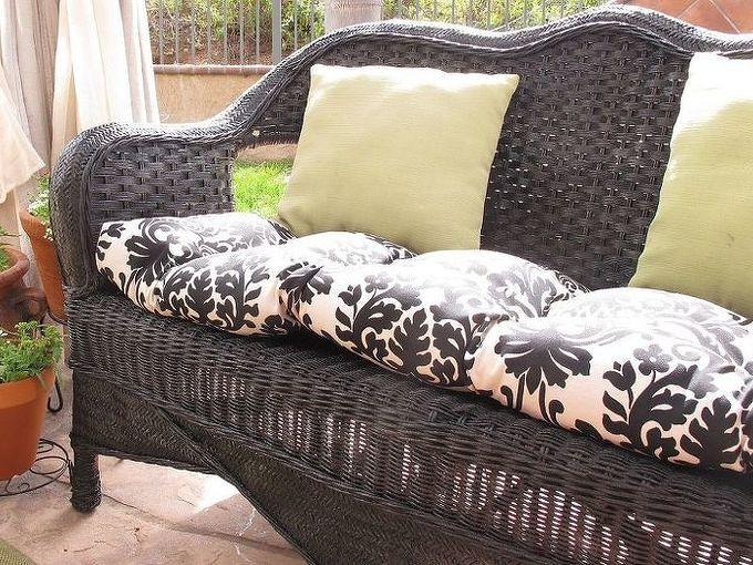 how to paint wicker furniture, painted furniture, Sealed it with a coat of Helmsman Spar Urethane since it is specially formulated for exterior or interior wood that is exposed to sunlight Enjoy your new piece of furniture