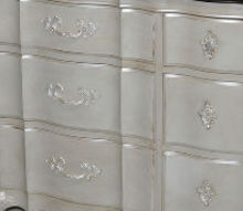 painted french provincial triple dresser, painted furniture
