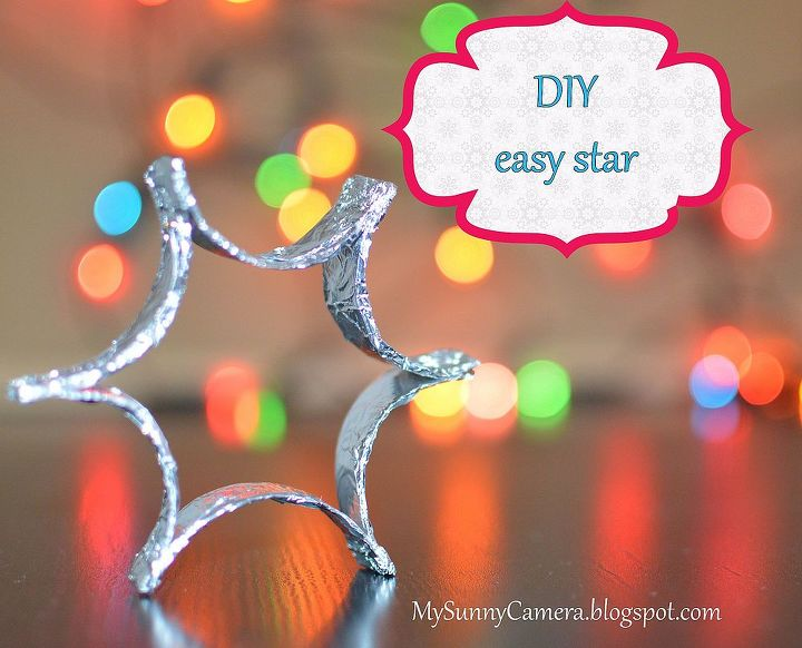 diy easy christmas decoration foil star christmas decorations crafts seasonal holiday decor