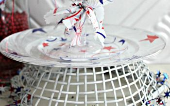 Red White and Blue Faux Melamine Plates