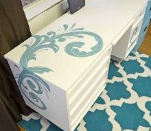 desk makeover with chalk paint, chalk paint, painted furniture