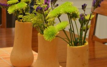 butternut squash vase, crafts, flowers, gardening
