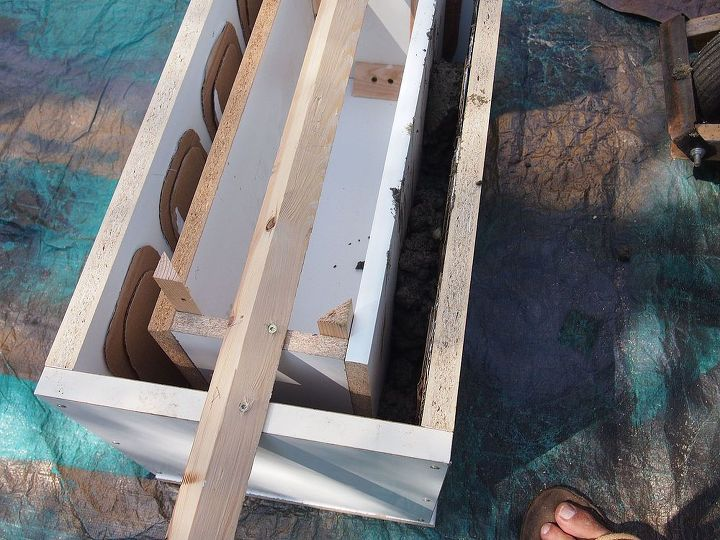 The inner box of the form goes in over the concrete bottom.