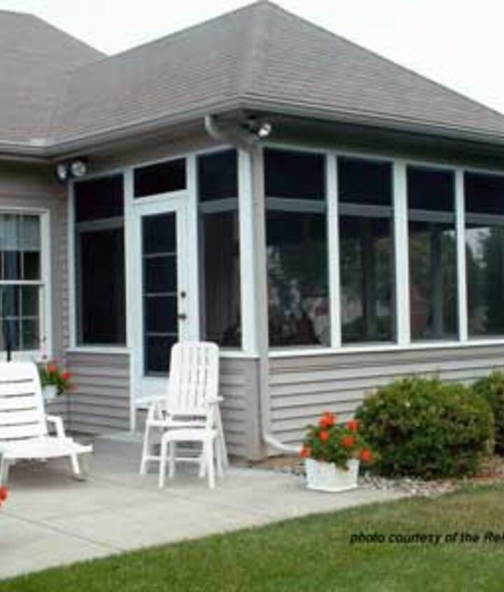 A classic screened porch adds valuable living space.