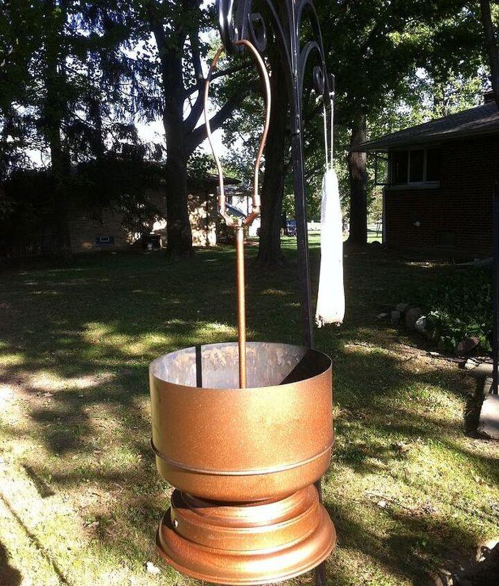 Test run of the hanging pot