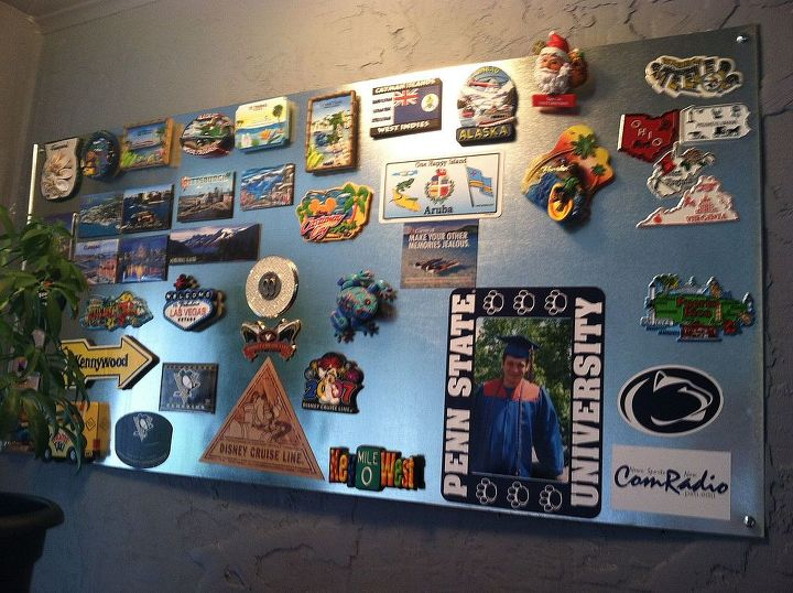 where to put all those magnets that are taking over your refrigerator, crafts