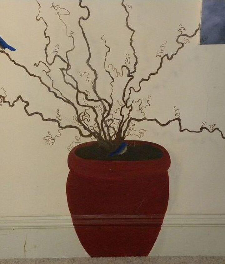 Harry Lauder's walking stick in a pot.