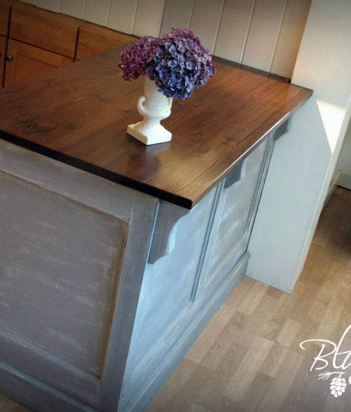 Kitchen Island built from an Old Door