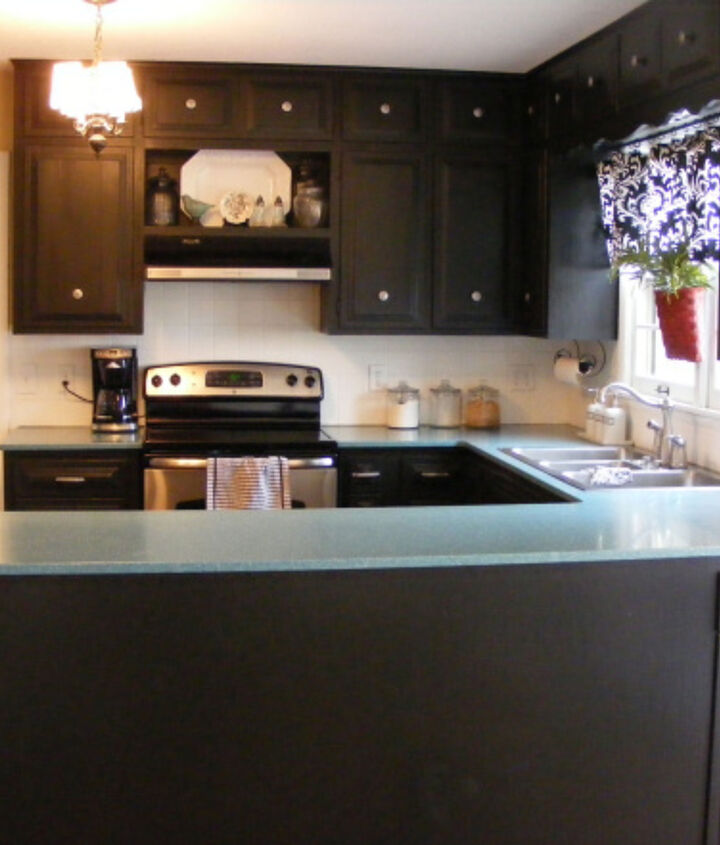 our kitchen redo in our last house, home decor, kitchen design, painting