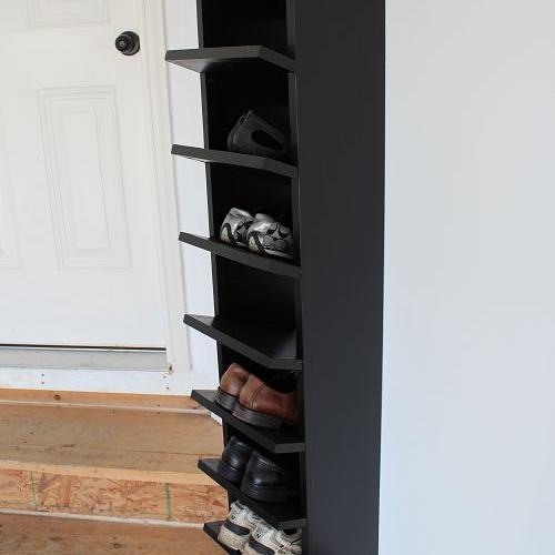 custom built diy shoe rack for our garage hometalk. Black Bedroom Furniture Sets. Home Design Ideas