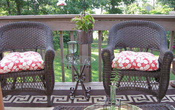 outdoor deck in birmingham al, decks, outdoor furniture, outdoor living, painted furniture, porches, 2 cozy chairs