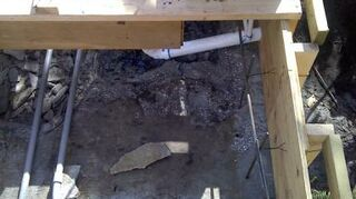 replacing pondless waterfall, outdoor living, ponds water features, What it looks like inside