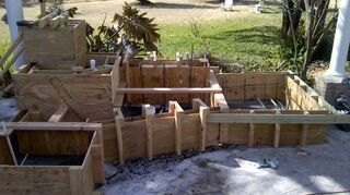 replacing pondless waterfall, outdoor living, ponds water features, ready for cement