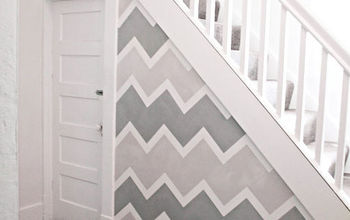 accent wall, home decor, wall decor, Chevron Accent Wall via The DIY Showoff